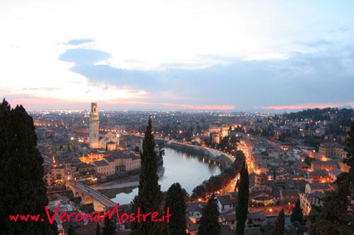 Panorama di Verona dalle colline a nord della città
