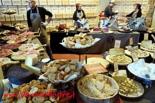 Degustazione di formaggi e salumi tipici del territorio veronese