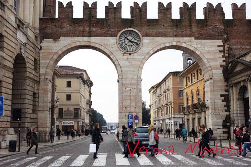 I portoni della Bra, l'accesso nella cinta muraria della Verona comunale e scaligera