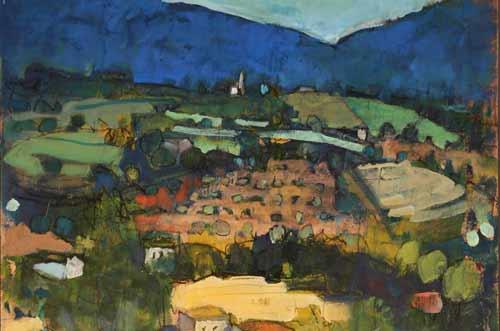 Vittorio Carradore - Paesaggio di collina