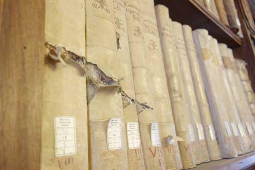 libri danneggiati Capitolare