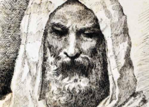 testa di uomo disegnata