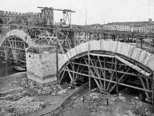 ricostruzione ponte di Castelvecchio
