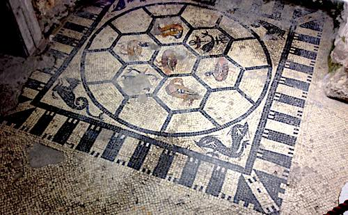 mosaico romano scavi scaligeri