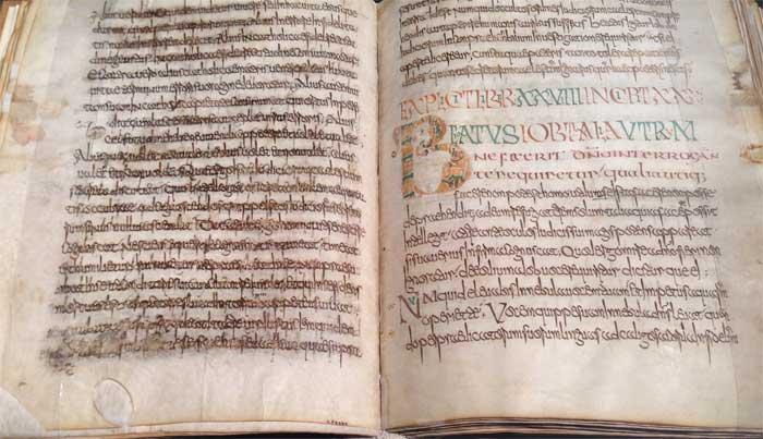manoscritto su pergamenta