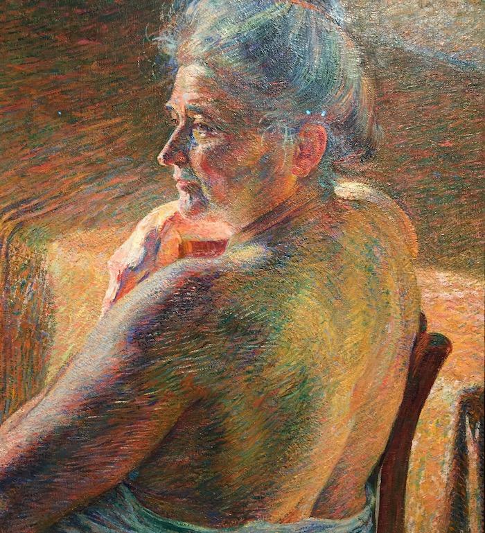 Umberto Boccioni - Nudo di Spalle (controluce) - 1909