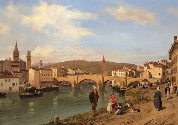 Veduta di ponte Navi a Verona